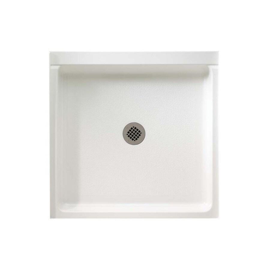 Swanstone White Fiberglass and Plastic Composite Shower Base (Common: 36-in W x 36-in L; Actual: 36-in W x 36-in L)