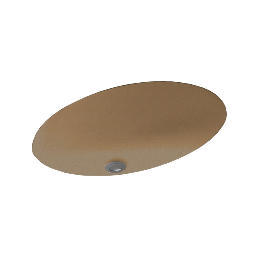 Swanstone Barley Solid Surface Undermount Oval Bathroom Sink with Overflow
