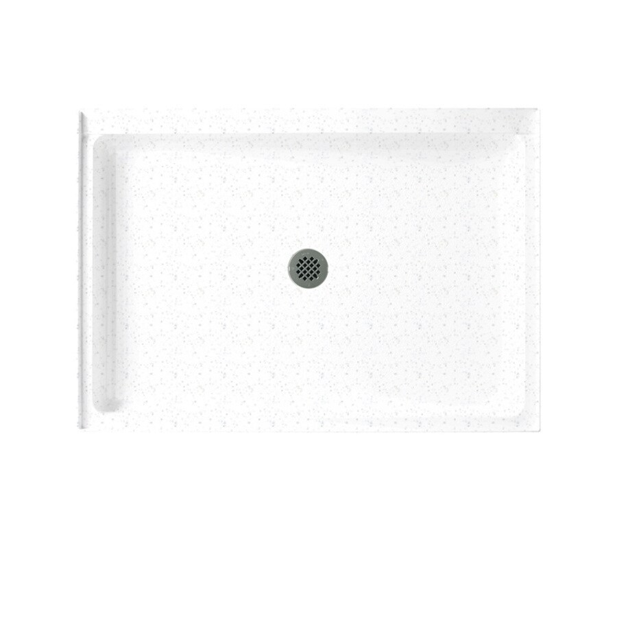 Swanstone Arctic Granite Solid Surface Shower Base (Common: 34-in W x 48-in L; Actual: 34-in W x 48-in L)