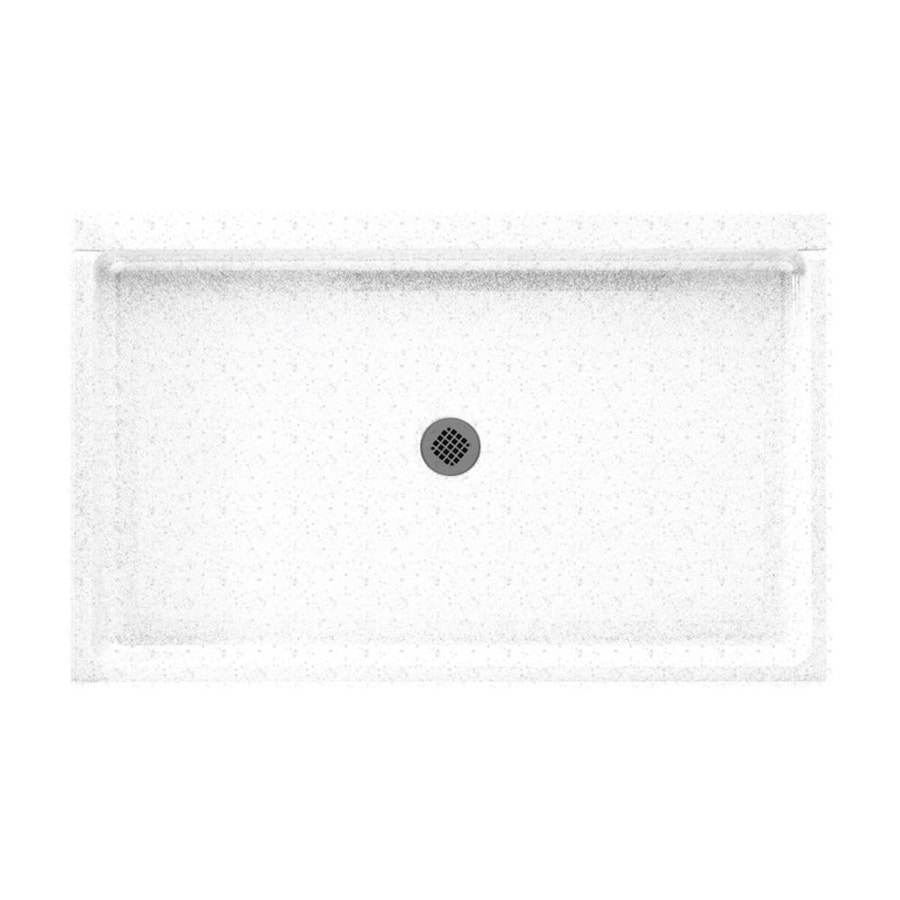 Swanstone Arctic Granite Solid Surface Shower Base (Common: 34-in W x 54-in L; Actual: 34-in W x 54-in L)