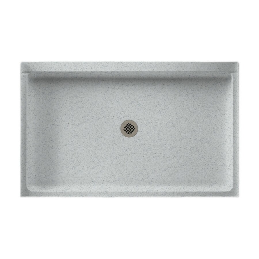 Swanstone Tahiti Gray Solid Surface Shower Base (Common: 34-in W x 54-in L; Actual: 34-in W x 54-in L)