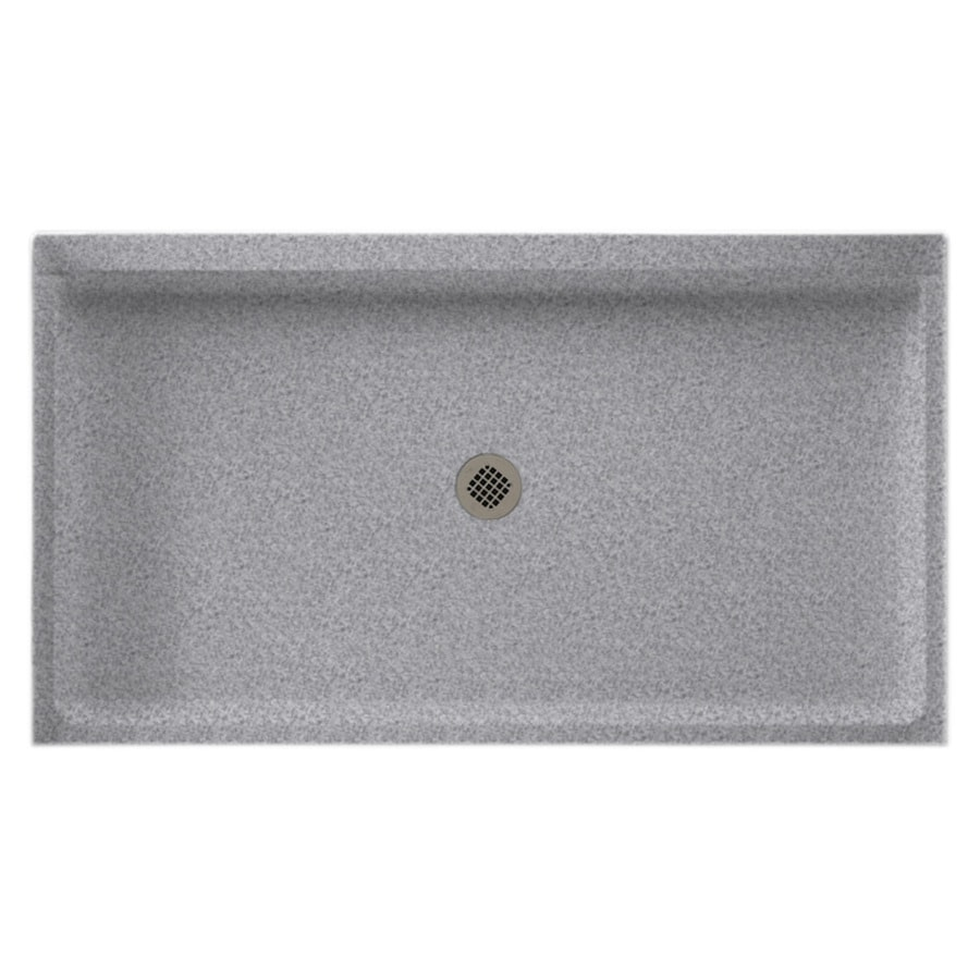 Swanstone Gray Granite Solid Surface Shower Base (Common: 34-in W x 60-in L; Actual: 34-in W x 60-in L)