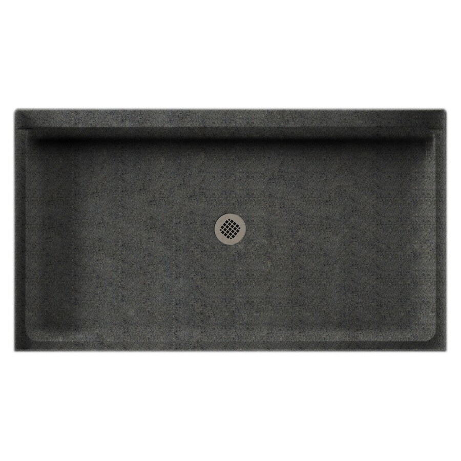 Swanstone Indian Grass Solid Surface Shower Base (Common: 34-in W x 60-in L; Actual: 34-in W x 60-in L)