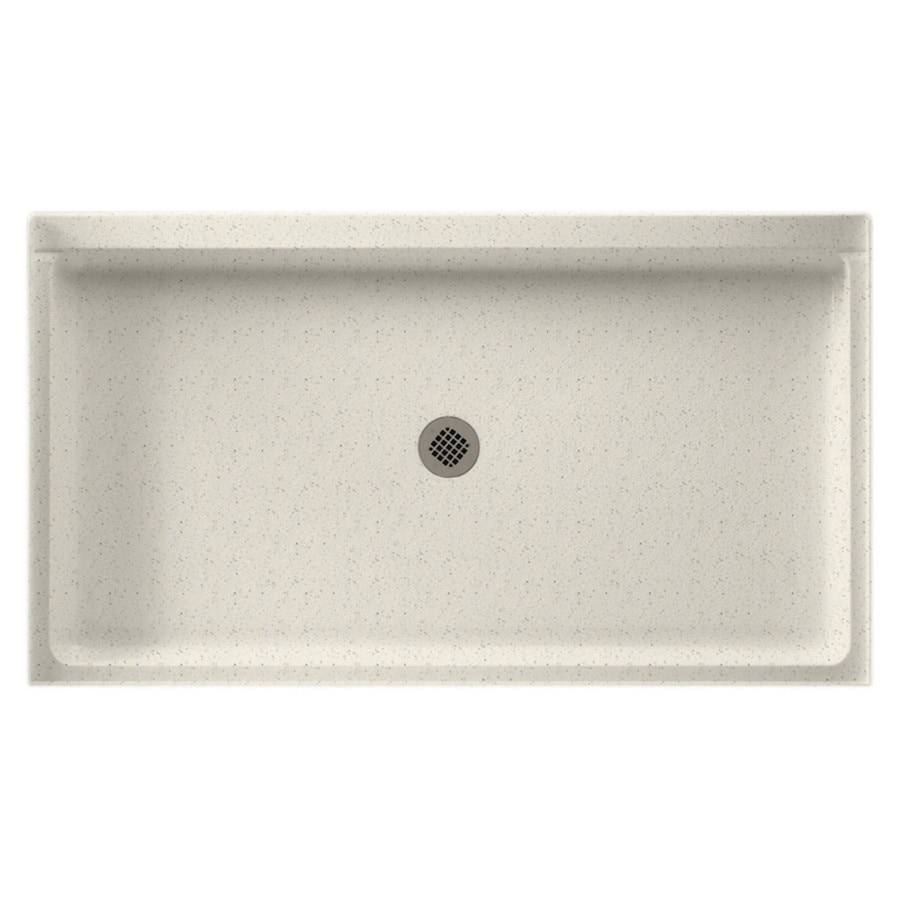 Swanstone Tahiti Matrix Solid Surface Shower Base (Common: 34-in W x 60-in L; Actual: 34-in W x 60-in L)