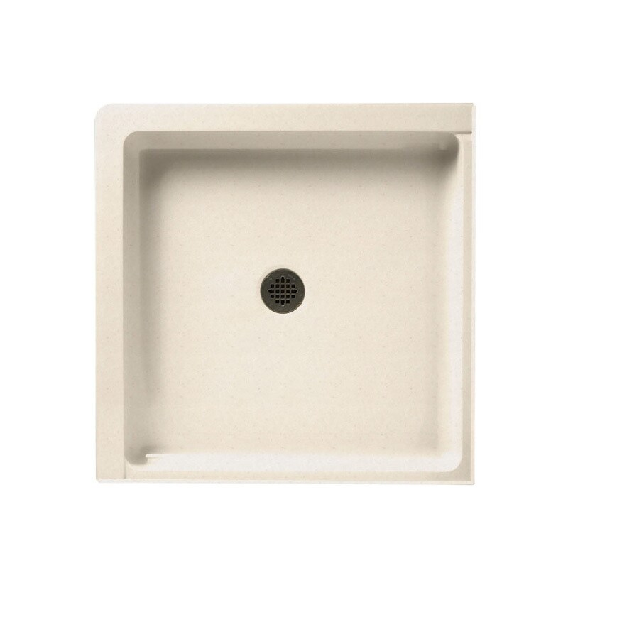 Swanstone Tahiti Sand Solid Surface Shower Base (Common: 36-in W x 36-in L; Actual: 36-in W x 36-in L)