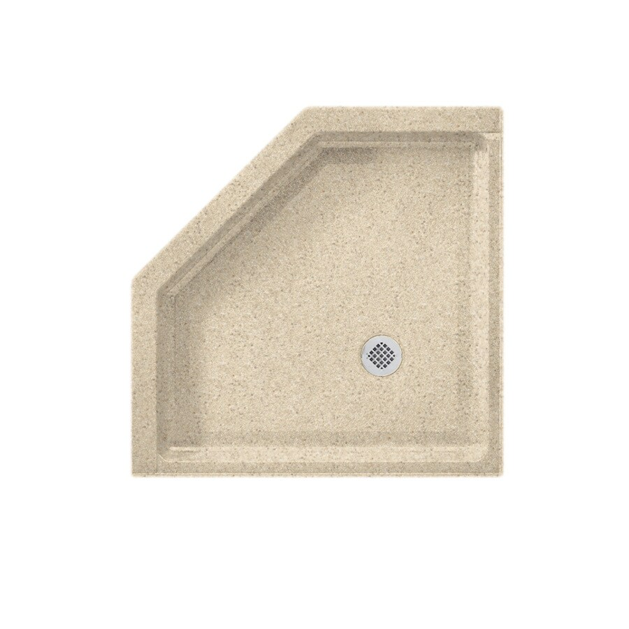 Swanstone Bermuda Sand Solid Surface Shower Base (Common: 38-in W x 38-in L; Actual: 38-in W x 38-in L)