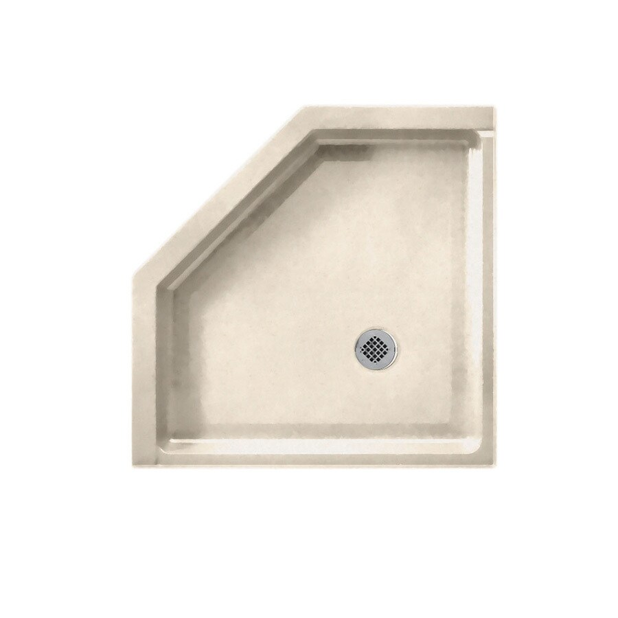 Swanstone Tahiti Sand Solid Surface Shower Base (Common: 38-in W x 38-in L; Actual: 38-in W x 38-in L)
