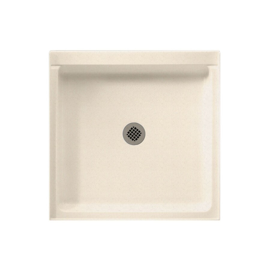 Swanstone Tahiti Sand Solid Surface Shower Base (Common: 42-in W x 36-in L; Actual: 36-in W x 42-in L)