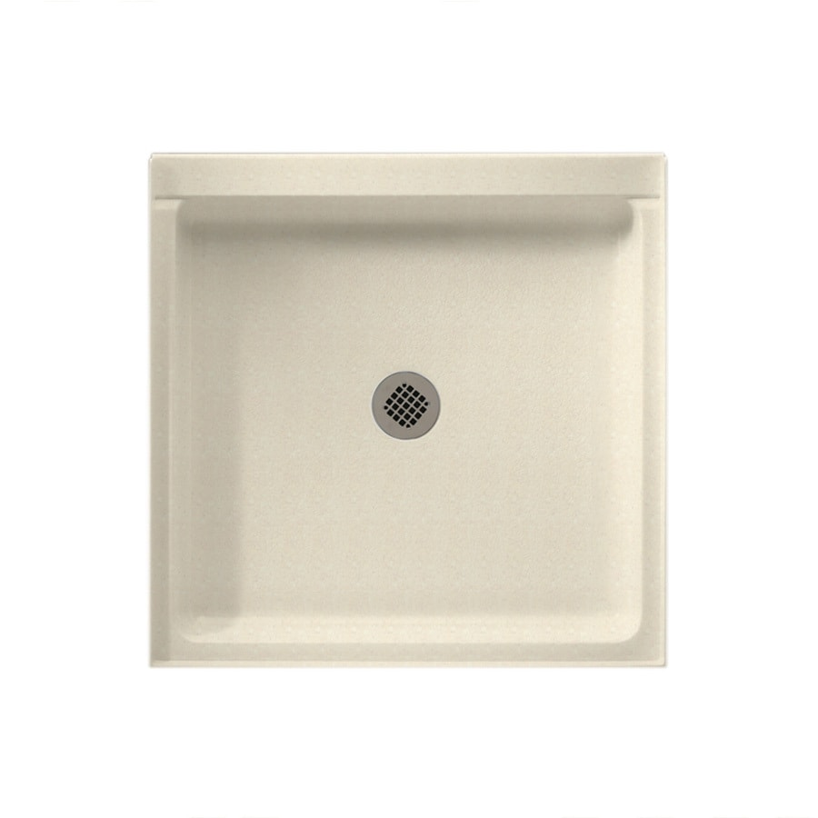 Swanstone Pebble Solid Surface Shower Base (Common: 42-in W x 36-in L; Actual: 36-in W x 42-in L)