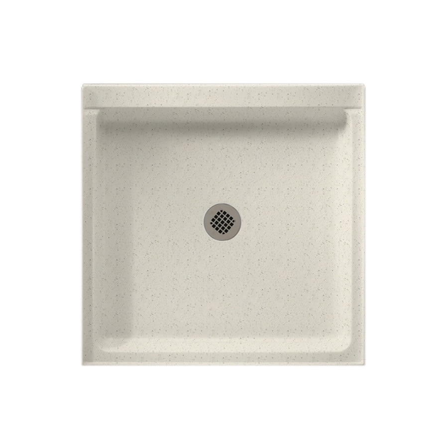 Swanstone Tahiti Matrix Solid Surface Shower Base (Common: 42-in W x 36-in L; Actual: 36-in W x 42-in L)