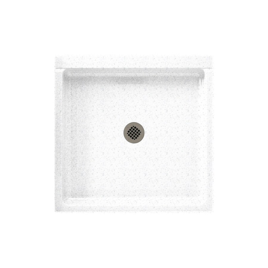 Swanstone Arctic Granite Solid Surface Shower Base (Common: 42-in W x 42-in L; Actual: 42-in W x 42-in L)