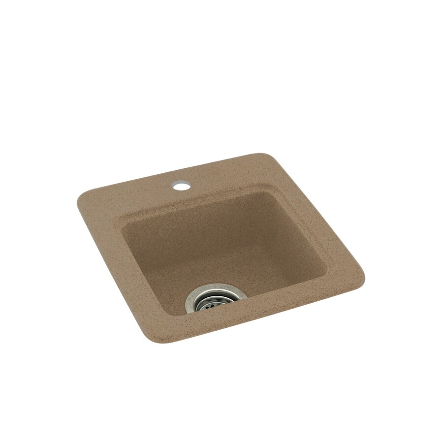 Swanstone Barley Single-Basin 1-Hole Composite Drop-in Residential Bar Sink