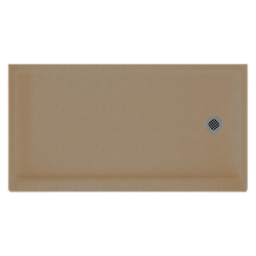 Swanstone Barley Solid Surface Shower Base (Common: 32-in W x 60-in L; Actual: 32-in W x 60-in L)