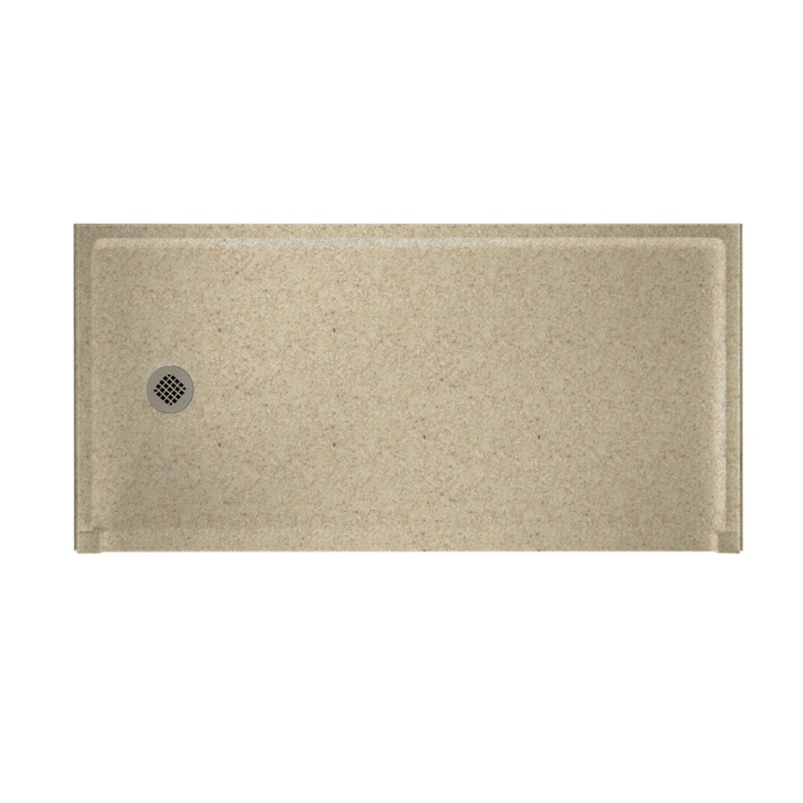 Swanstone Prairie Solid Surface Shower Base (Common: 30-in W x 60-in L; Actual: 30-in W x 60-in L)