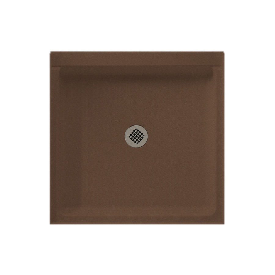 Swanstone Acorn Solid Surface Shower Base (Common: 32-in W x 32-in L; Actual: 32-in W x 32-in L)