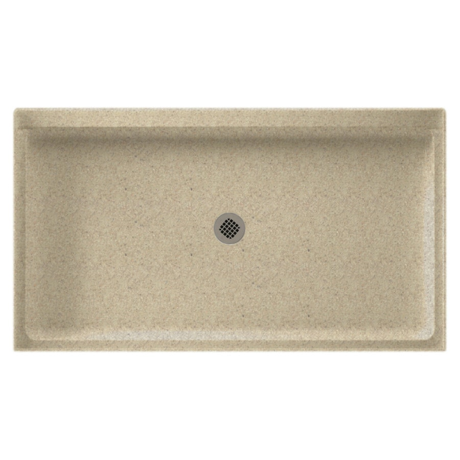 Swanstone Prairie Solid Surface Shower Base (Common: 32-in W x 60-in L; Actual: 32-in W x 60-in L)