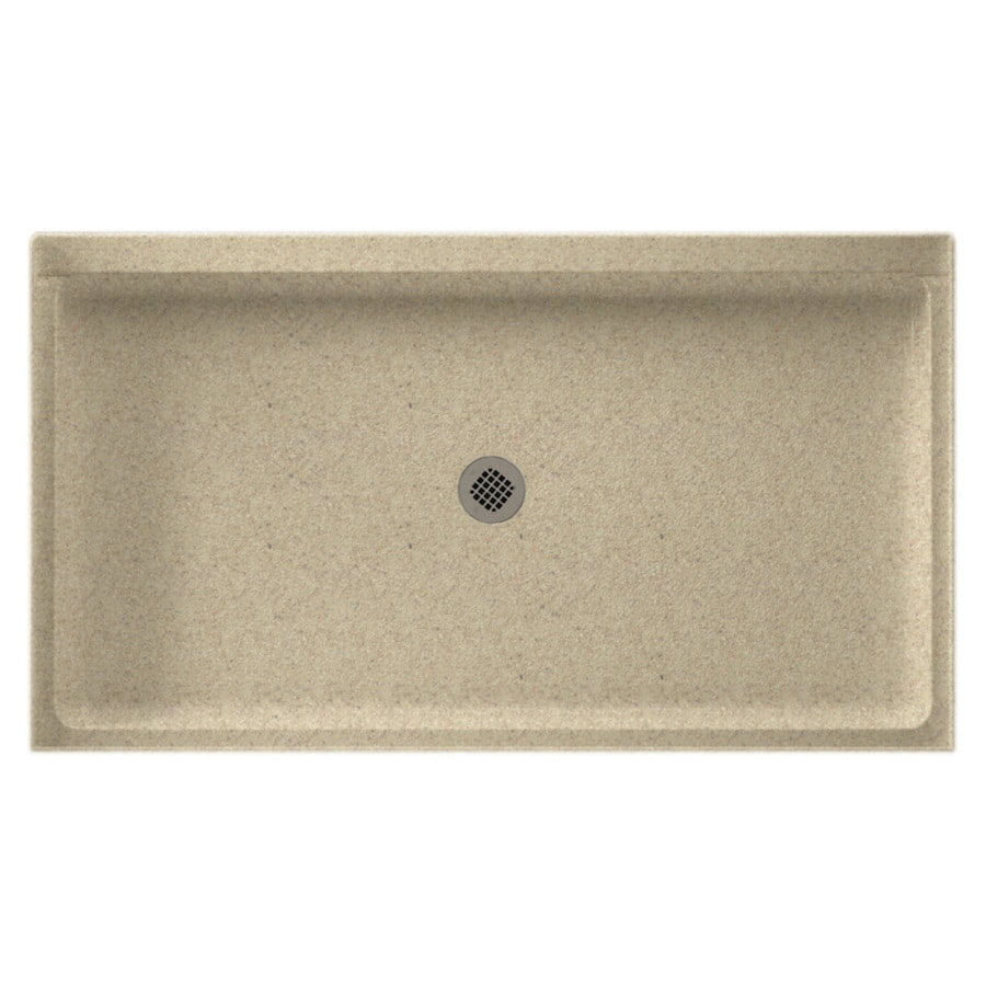 Swanstone Prairie Solid Surface Shower Base (Common: 34-in W x 60-in L; Actual: 34-in W x 60-in L)