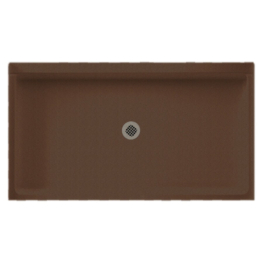 Swanstone Acorn Solid Surface Shower Base (Common: 34-in W x 60-in L; Actual: 34-in W x 60-in L)