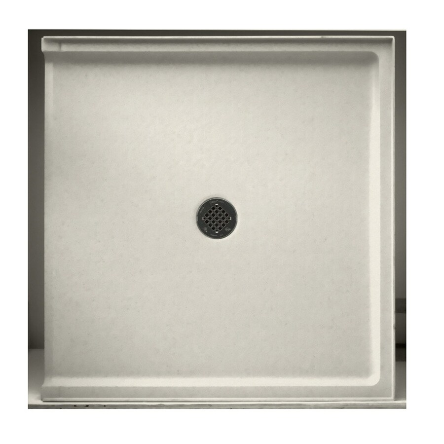 Swanstone Glacier Solid Surface Shower Base (Common: 37-in W x 38-in L; Actual: 37-in W x 38-in L)