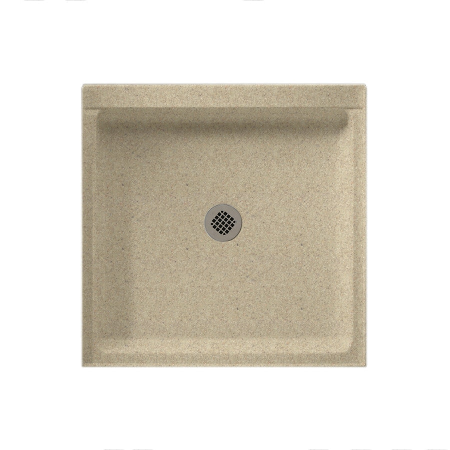 Swanstone Prairie Solid Surface Shower Base (Common: 42-in W x 36-in L; Actual: 36-in W x 42-in L)