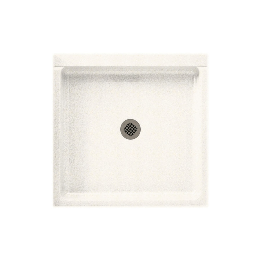 Swanstone Baby's Breath Solid Surface Shower Base (Common: 42-in W x 42-in L; Actual: 42-in W x 42-in L)
