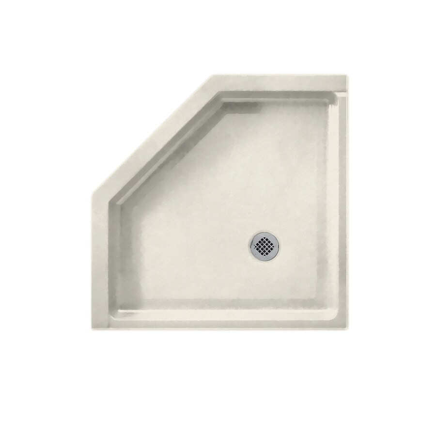 Swanstone Glacier Solid Surface Shower Base (Common: 38-in W x 38-in L; Actual: 38-in W x 38-in L)