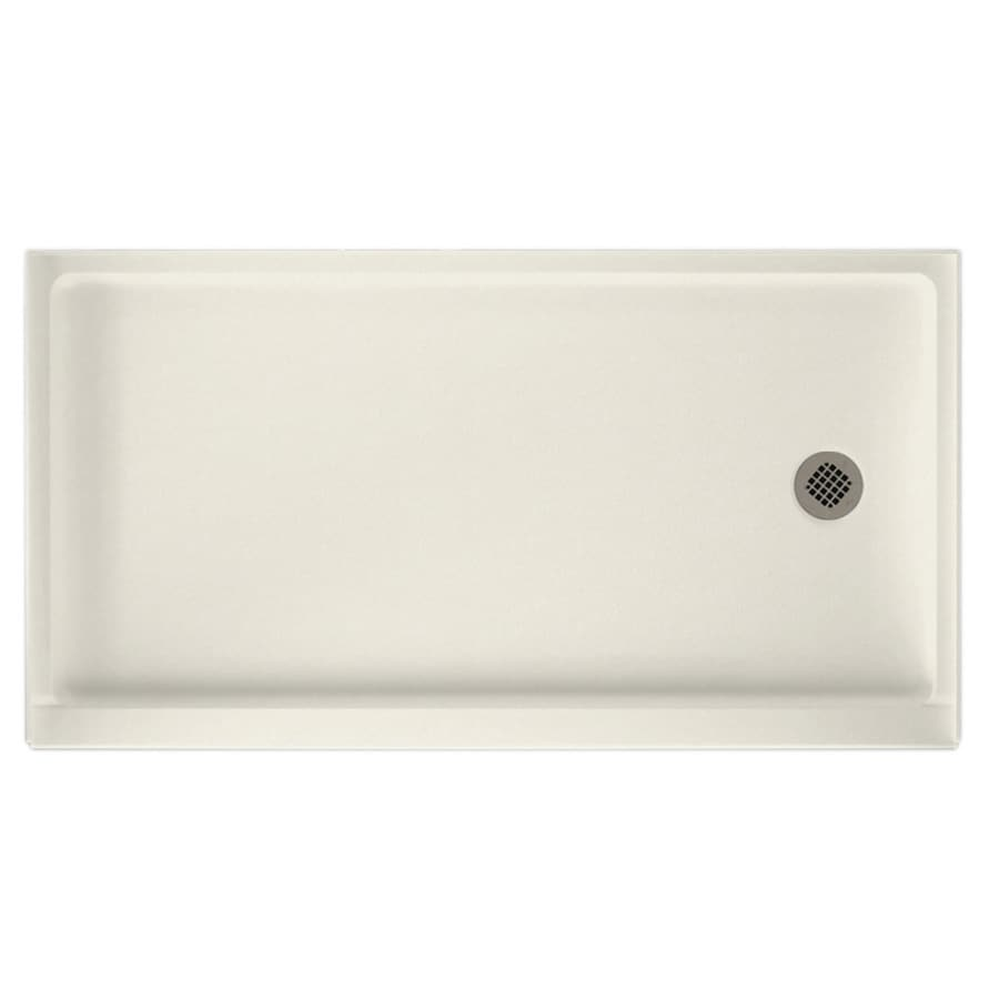 Swanstone Glacier Solid Surface Shower Base (Common: 32-in W x 60-in L; Actual: 32-in W x 60-in L)