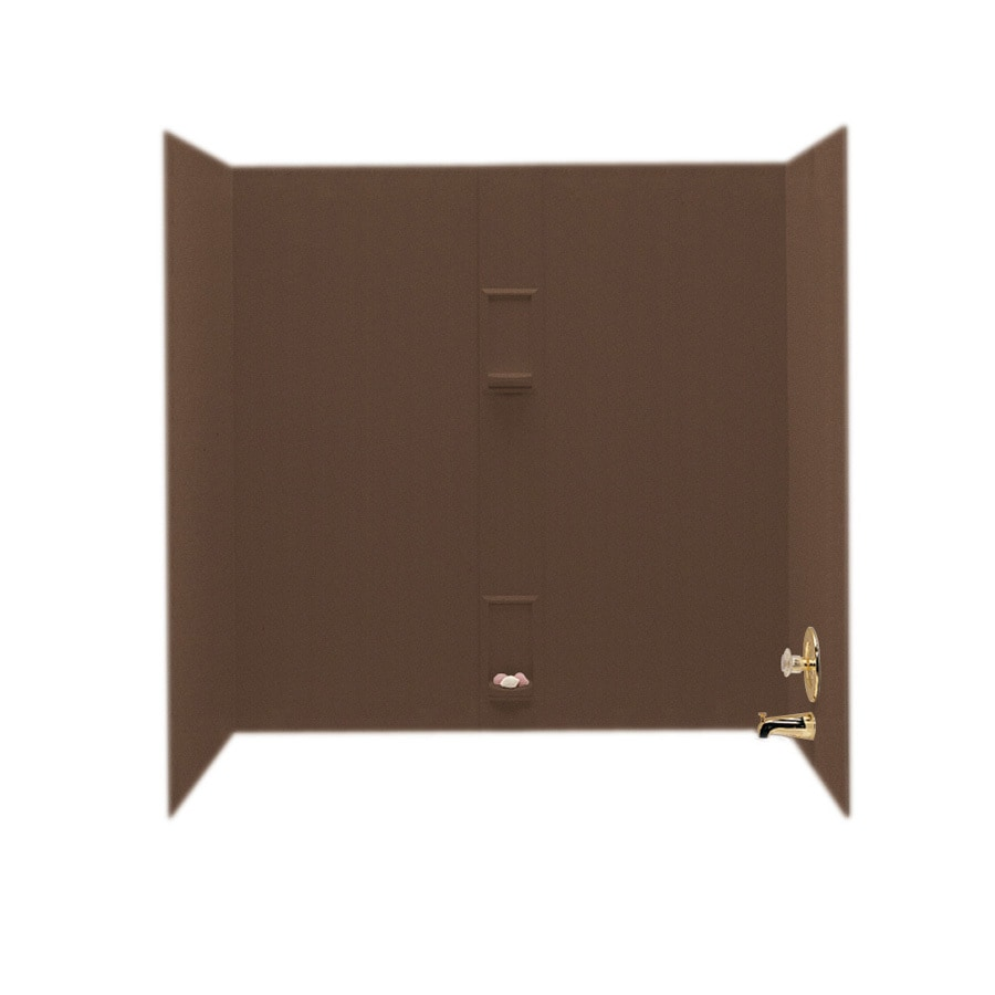 Swanstone Acorn Solid Surface Bathtub Wall Surround (Common: 30-in x 60-in; Actual: 60-in x 30-in x 60-in)