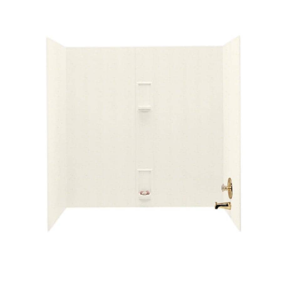 Swanstone Baby's Breath Solid Surface Bathtub Wall Surround (Common: 30-in x 60-in; Actual: 60-in x 30-in x 60-in)