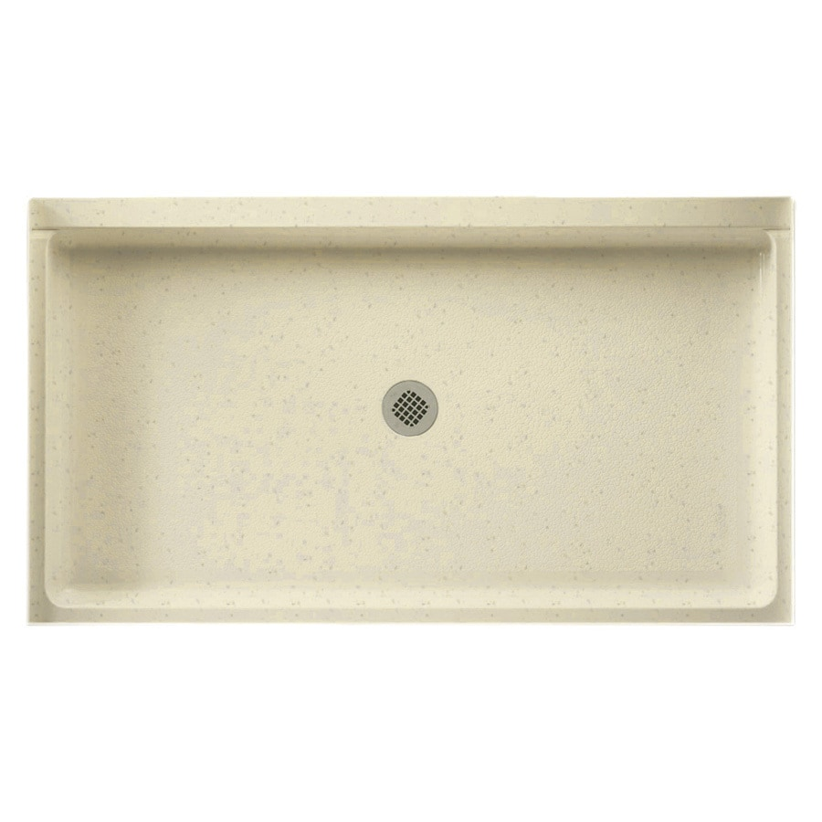 Swanstone Caraway Seed Solid Surface Shower Base (Common: 34-in W x 60-in L; Actual: 34-in W x 60-in L)