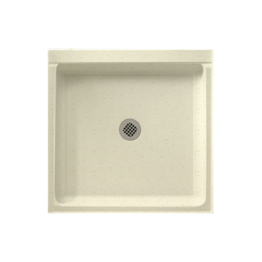 Swanstone Caraway Seed Solid Surface Shower Base (Common: 42-in W x 36-in L; Actual: 36-in W x 42-in L)
