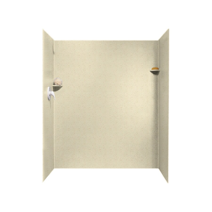 Swanstone Caraway Seed Shower Wall Surround Side and Back Panels (Common: 34-in; Actual: 72-in x 34-in)