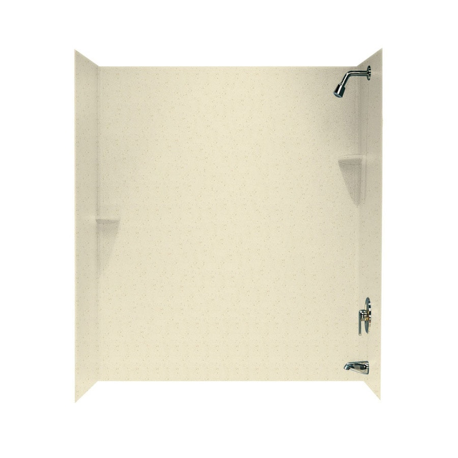 Swanstone Caraway Seed Solid Surface Bathtub Wall Surround (Common: 30-in x 60-in; Actual: 72-in x 30-in x 60-in)