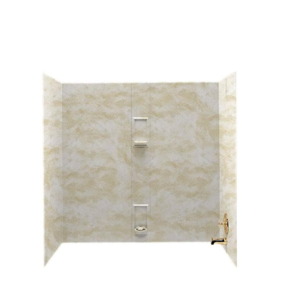 Swanstone Cloud White Solid Surface Bathtub Wall Surround (Common: 30-in x 60-in; Actual: 60-in x 30-in x 60-in)