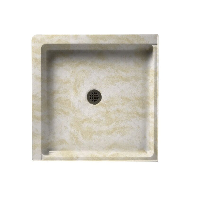 Swanstone Cloud White Solid Surface Shower Base (Common: 36-in W x 36-in L; Actual: 36-in W x 36-in L)