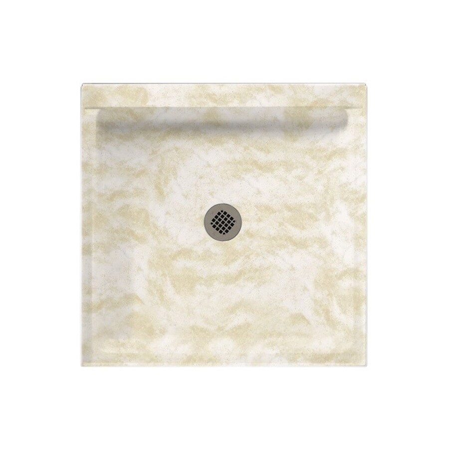 Swanstone Cloud White Solid Surface Shower Base (Common: 32-in W x 32-in L; Actual: 32-in W x 32-in L)