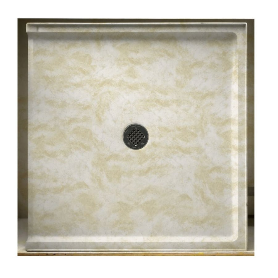 Swanstone Cloud White Solid Surface Shower Base (Common: 37-in W x 38-in L; Actual: 37-in W x 38-in L)