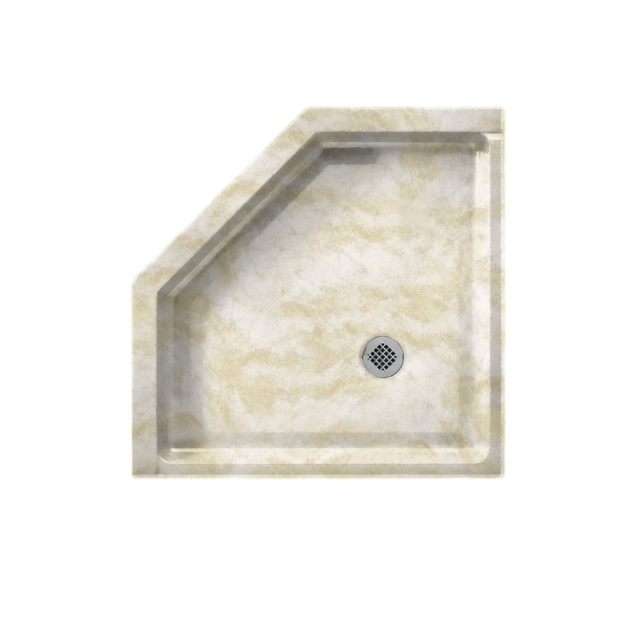 Swanstone Cloud White Solid Surface Shower Base (Common: 38-in W x 38-in L; Actual: 38-in W x 38-in L)