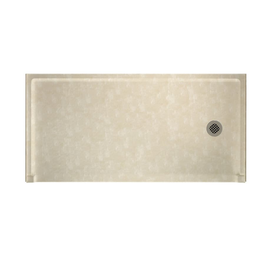 Swanstone Cloud Bone Solid Surface Shower Base (Common: 30-in W x 60-in L; Actual: 30-in W x 60-in L)