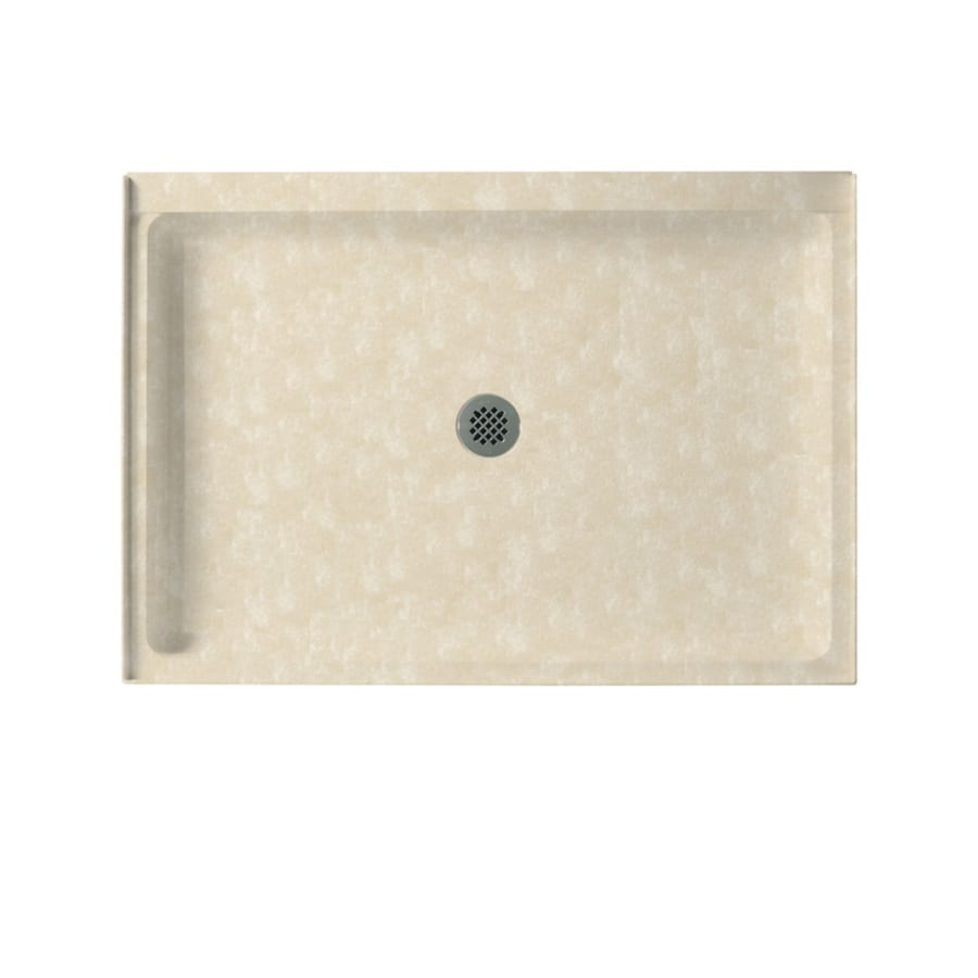 Swanstone Cloud Bone Solid Surface Shower Base (Common: 34-in W x 42-in L; Actual: 34-in W x 42-in L)