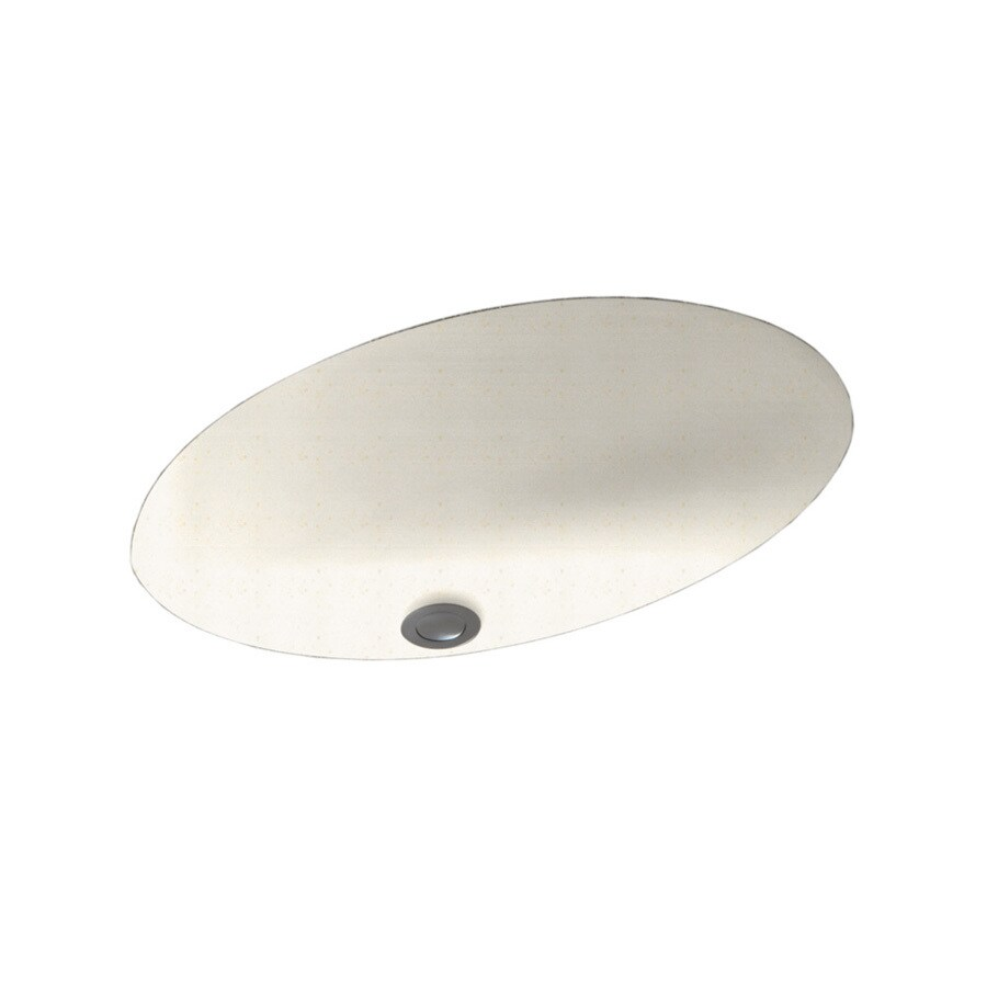 Swanstone Baby's Breath Solid Surface Undermount Oval Bathroom Sink with Overflow