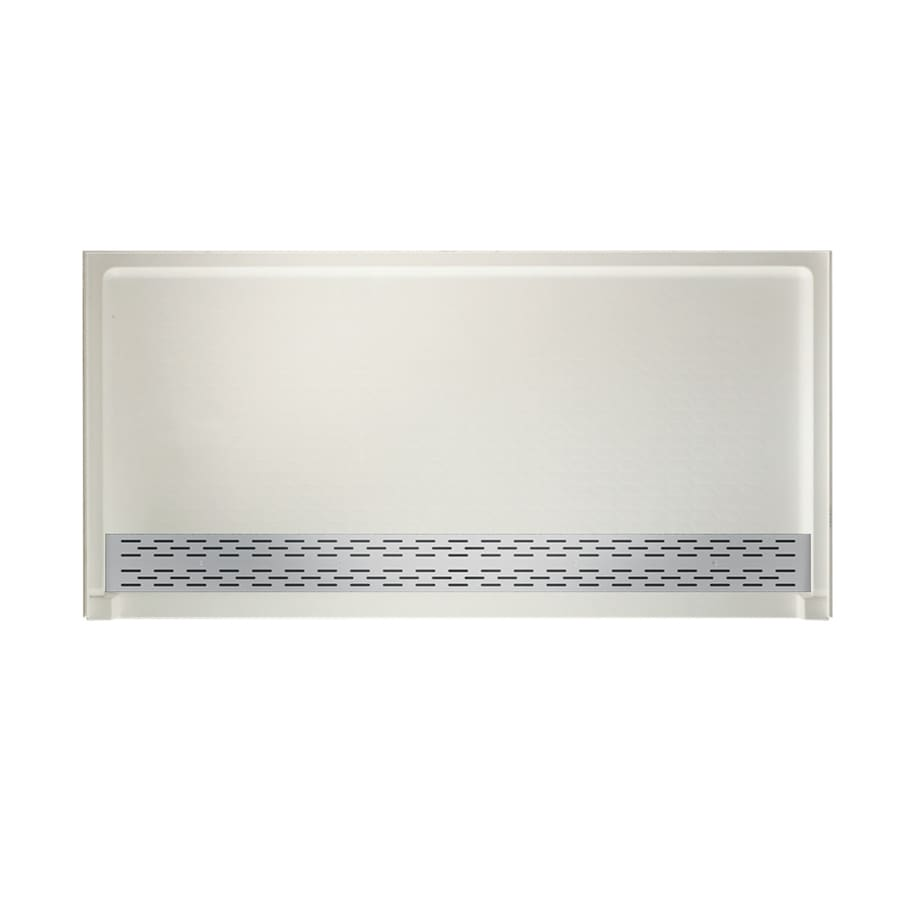 Swanstone Bisque Solid Surface Shower Base (Common: 64-in W x 34-in L; Actual: 64.25-in W x 34.125-in L)