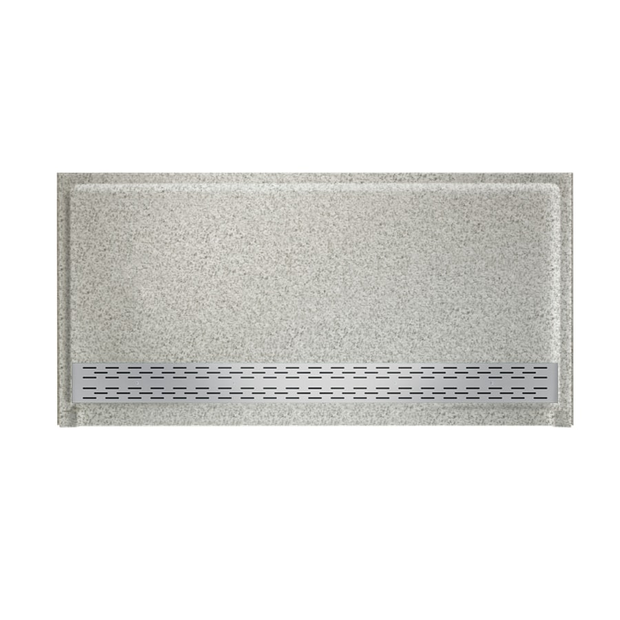 Swanstone Gray Granite Solid Surface Shower Base (Common: 64-in W x 34-in L; Actual: 64.25-in W x 34.125-in L)
