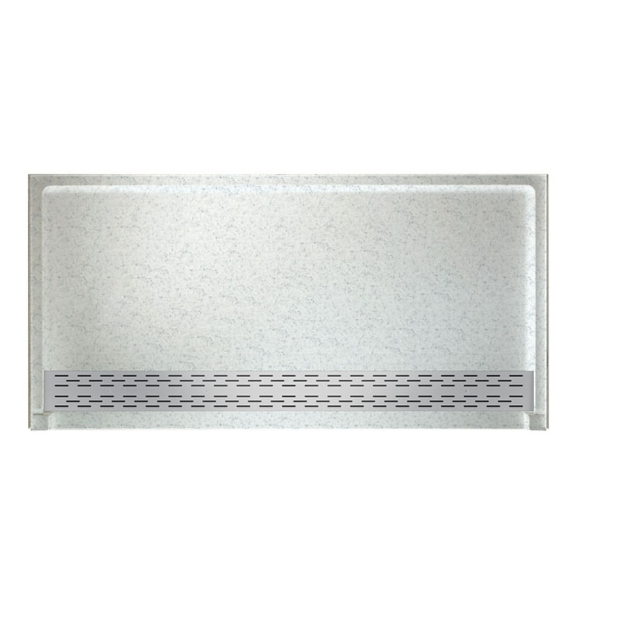 Swanstone Tahiti Gray Solid Surface Shower Base (Common: 64-in W x 34-in L; Actual: 64.25-in W x 34.125-in L)