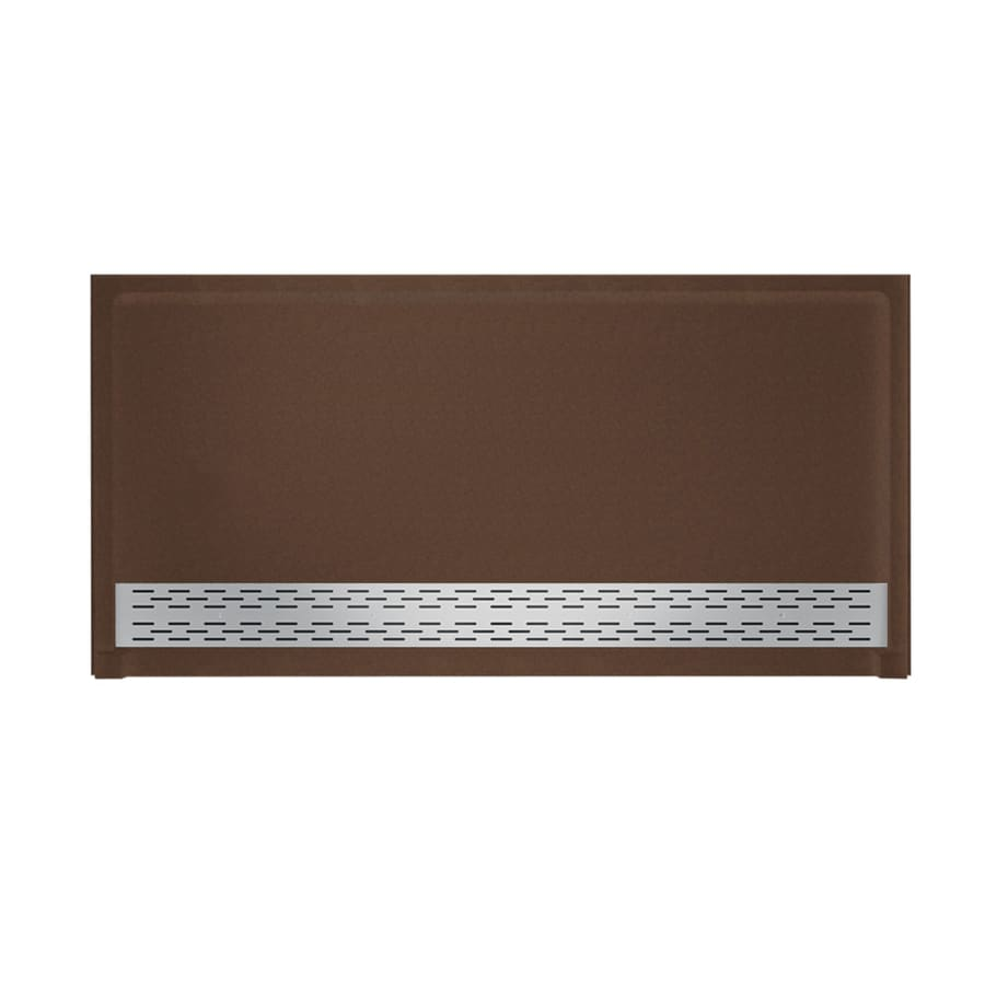 Swanstone Acorn Solid Surface Shower Base (Common: 64-in W x 34-in L; Actual: 64.25-in W x 34.125-in L)
