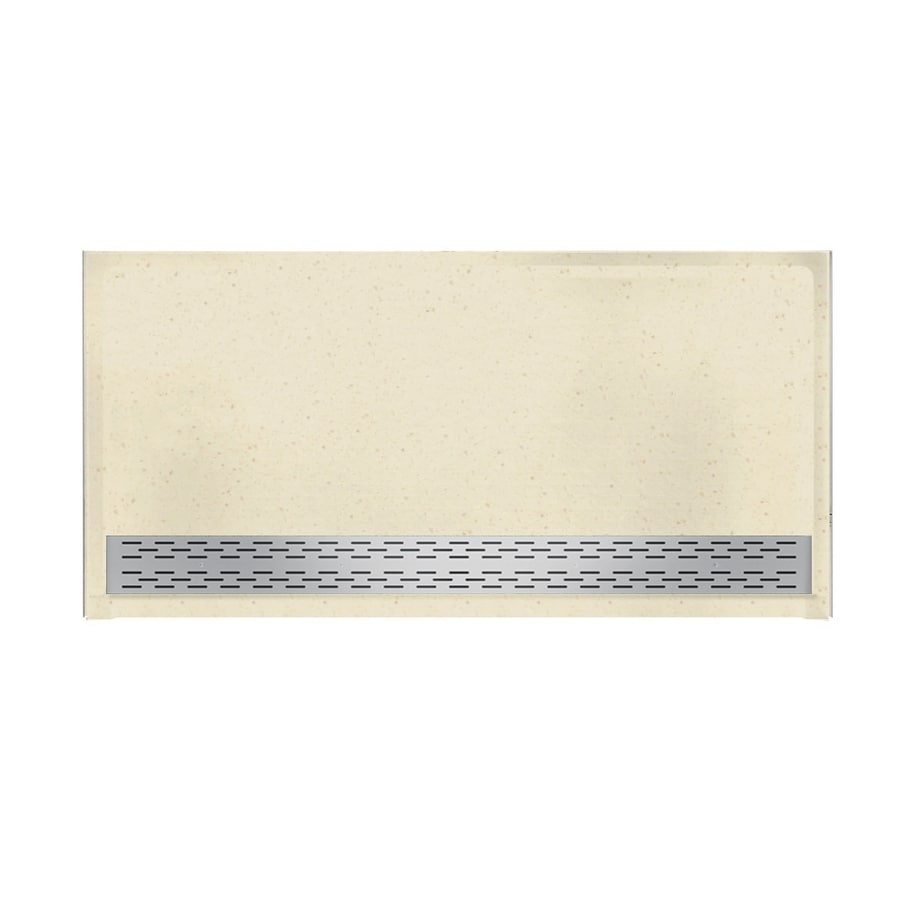 Swanstone Caraway Seed Solid Surface Shower Base (Common: 64-in W x 34-in L; Actual: 64.25-in W x 34.125-in L)