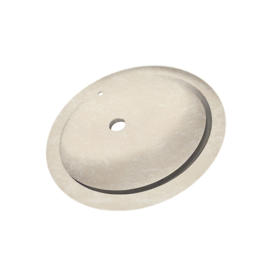 Shop swanstone cloud bone solid surface undermount oval for Swanstone undermount sinks