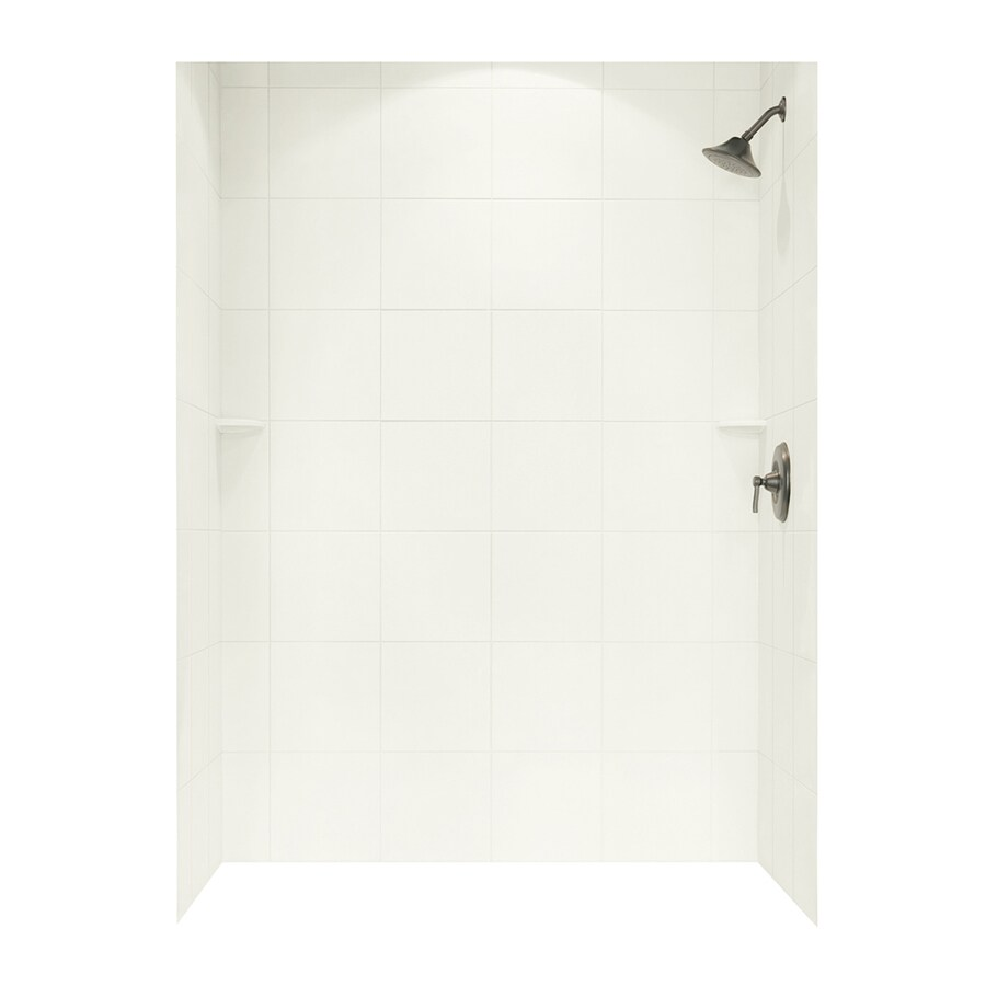 Swanstone Bisque Shower Wall Surround Side and Back Panels (Common: 62-in; Actual: 96-in x 62-in)