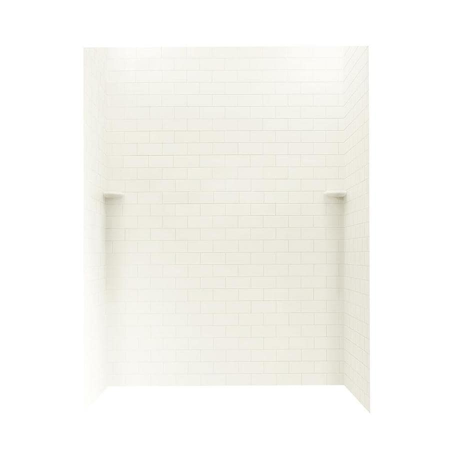 Swanstone Bisque Shower Wall Surround Side and Back Panels (Common: 62-in; Actual: 72.5-in x 62-in)