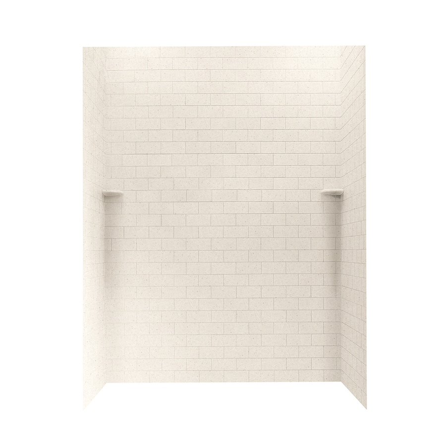 Swanstone Tahiti Sand Shower Wall Surround Side and Back Panels (Common: 62-in; Actual: 72.5-in x 62-in)